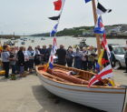 A lugger is launched