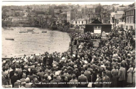 salvation army open air slipway st ives 1960s